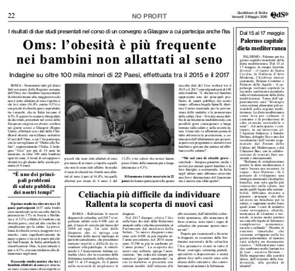 Dal 15 al 17 maggio Palermo capitale dieta mediterranea